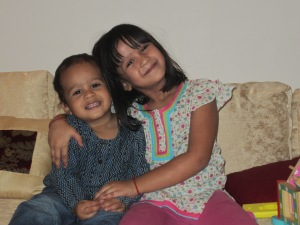 Aiyana with her brother Shaunak in 2011