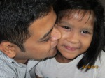 Aiyana with her doting uncle