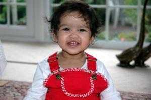 Aiyana when she was 1 year old