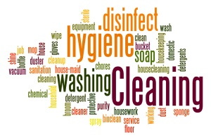 Cleaning word cloud concept