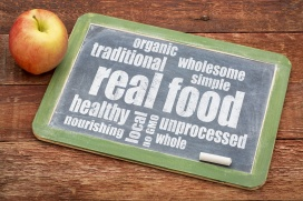real food word cloud