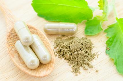 herbal medicine in capsules.